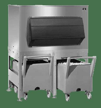 Manitowoc FC-1350 Ice Bin & Cart System
