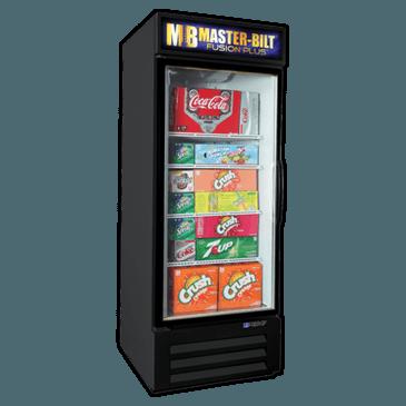 Master-Bilt Products MBGRP23-HG Fusion Plus Glass Door Refrigerator Merchandiser