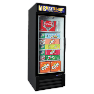 Master-Bilt Products MBGRP27-HG Fusion Plus Glass Door Refrigerator Merchandiser