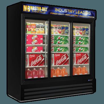 "Master-Bilt Products MBGRP74-SL Fusion Plus"" Glass Door Refrigerator Merchandiser"