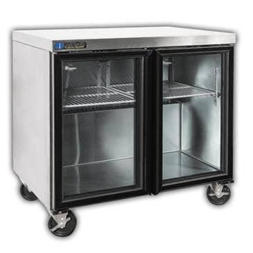 "Master-Bilt Products MBURG36A-013 Fusion"" Undercounter Glass Door Refrigerator with"
