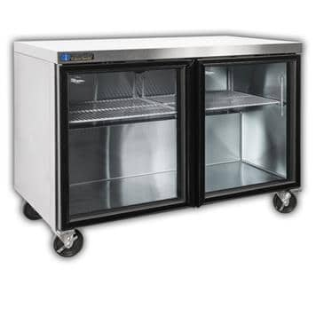 "Master-Bilt Products MBURG48A-014 Fusion"" Undercounter Glass Door Refrigerator with"