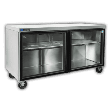 """Master-Bilt Products MBURG60A-013 Fusion"""" Undercounter Glass Door Refrigerator with"""