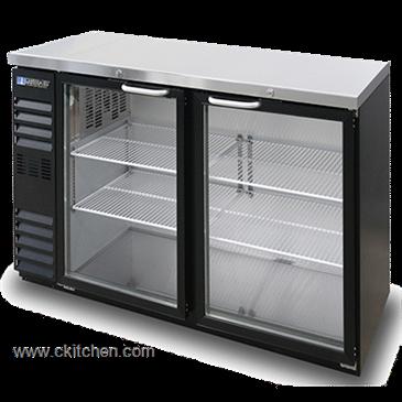 Master Bilt Products MBBB60NG Fusion Shallow Glass Door Back Bar  Refrigerator