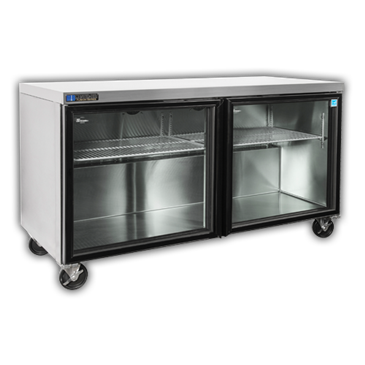 """Master-Bilt Products MBURG48A-014 Fusion"""" Undercounter Glass Door Refrigerator with"""