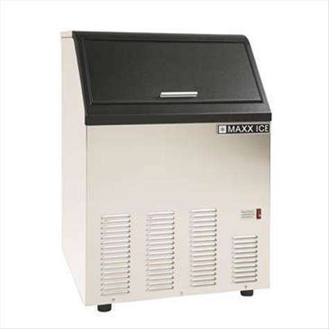 """Maxx Cold Maxximum MIM130 22.13"""" Bullet Shaped Ice Ice Maker With Bin, Cube-Style - 100-200 lbs/24 Hr Ice Production, Air-Cooled, 110 Volts"""