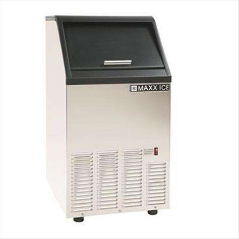 """Maxx Cold Maxximum MIM75 16.50"""" Bullet Shaped Ice Ice Maker With Bin, Cube-Style - 50-100 lbs/24 Hr Ice Production, Air-Cooled, 110 Volts"""
