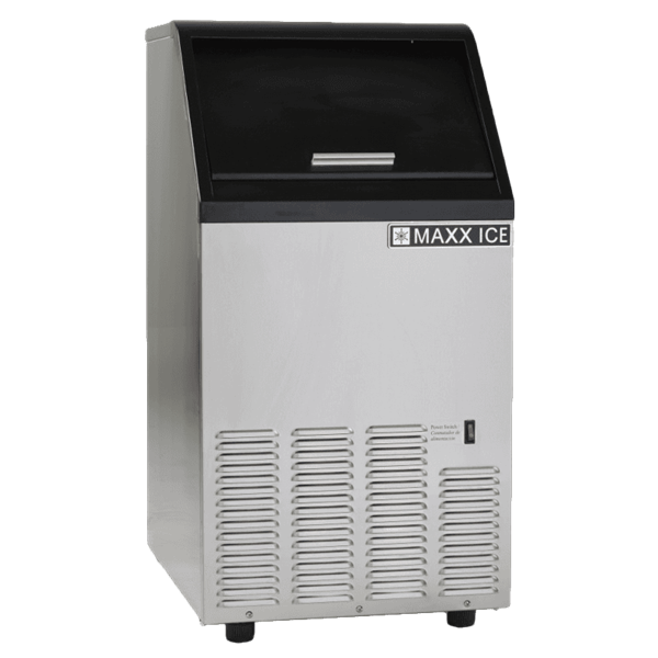 """Maxx Cold Maxximum MIM80 16.50"""" Full-Dice Ice Maker With Bin, Cube-Style - 50-100 lbs/24 Hr Ice Production, Air-Cooled, 120 Volts"""
