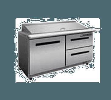 "Maxx Cold MXCR48M-DR X-Series 48"" Megatop Sandwich & Salad"