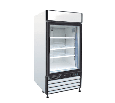 Maxx Cold MXM1-12F 25.00'' 12.0 cu. ft. 1 Section White Glass Door Merchandiser Freezer