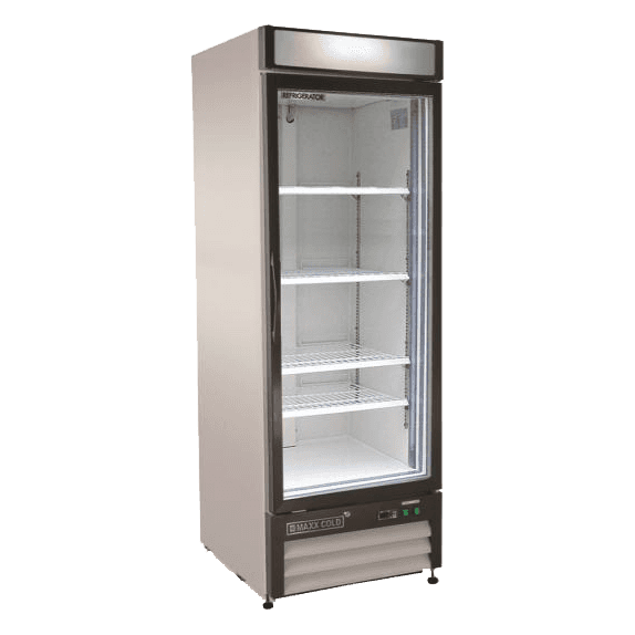 Maxx Cold MXM1-23R 27.00'' White 1 Section Swing Refrigerated Glass Door Merchandiser