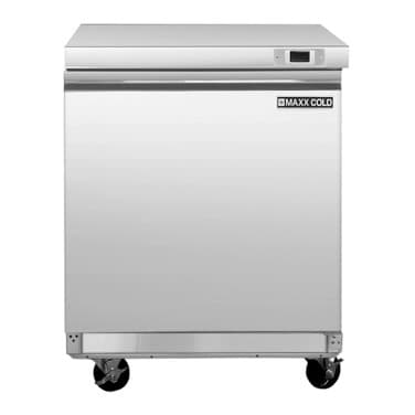 Maxx Cold MXSF29U 29.00'' 1 Section Undercounter Freezer with 1 Right Hinged Solid Door and Side / Rear Breathing Compressor