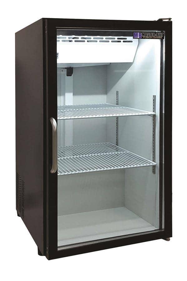 Master-Bilt MBCTM7-B 21.25'' Black 1 Section Swing Refrigerated Glass Door Merchandiser