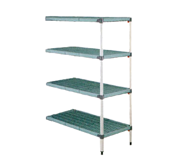 Metro AQ366G3 MetroMax Q™ Add-On Shelving Unit (4) polymer