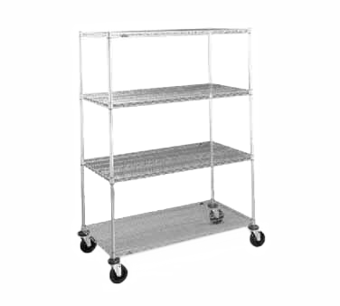 Metro N456BBR Super Erecta® Stem Caster Cart