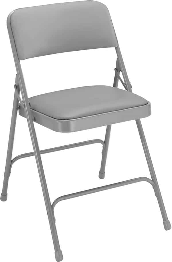 National Public Seating 1202 1200 Series Vinyl Upholstered Premium Folding Chair