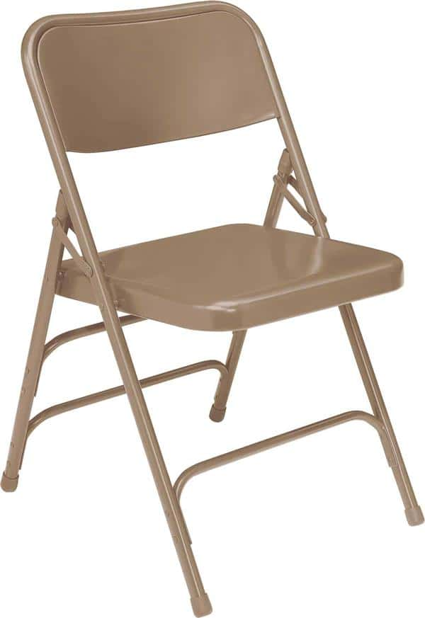 National Public Seating 301 300 Series Premium All-Steel Brace Double Hinge Folding Chair