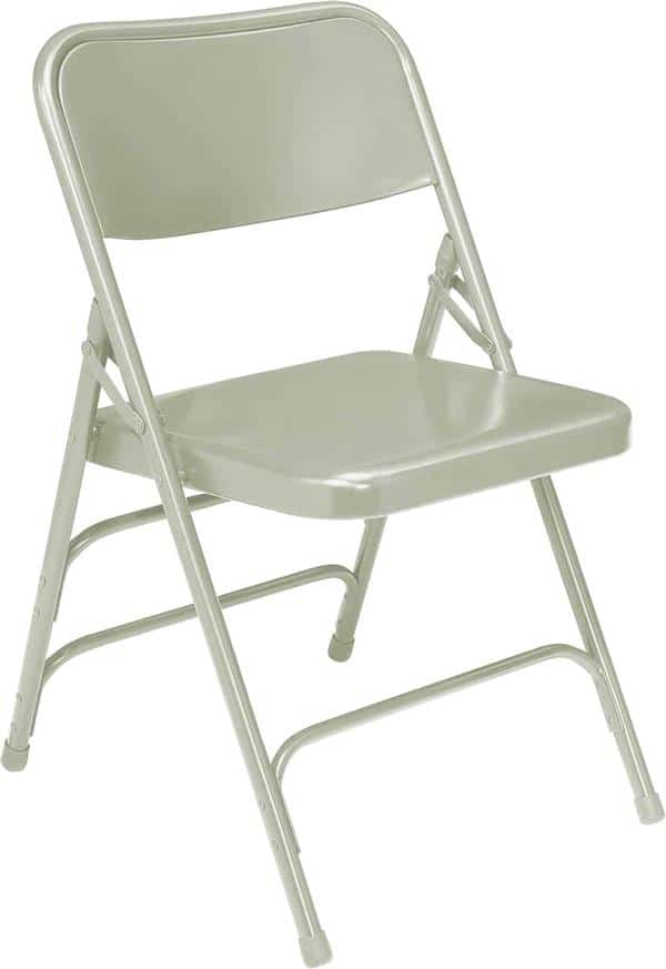 National Public Seating 302 300 Series Premium All-Steel Brace Double Hinge Folding Chair