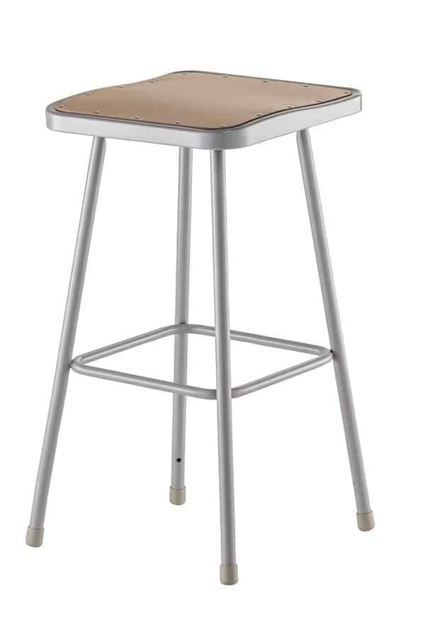 """National Public Seating 6330 18""""H & 24""""H & 30""""H Square Seat Grey Frame"""
