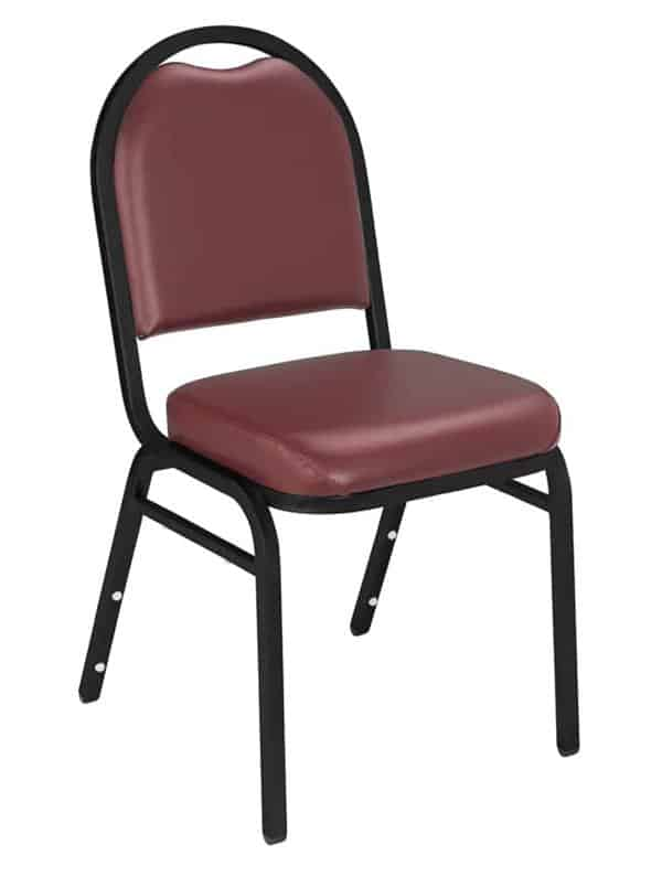 National Public Seating 9208-BT 9200 Series Dome Vinyl Upholstered Padded Stack Chair