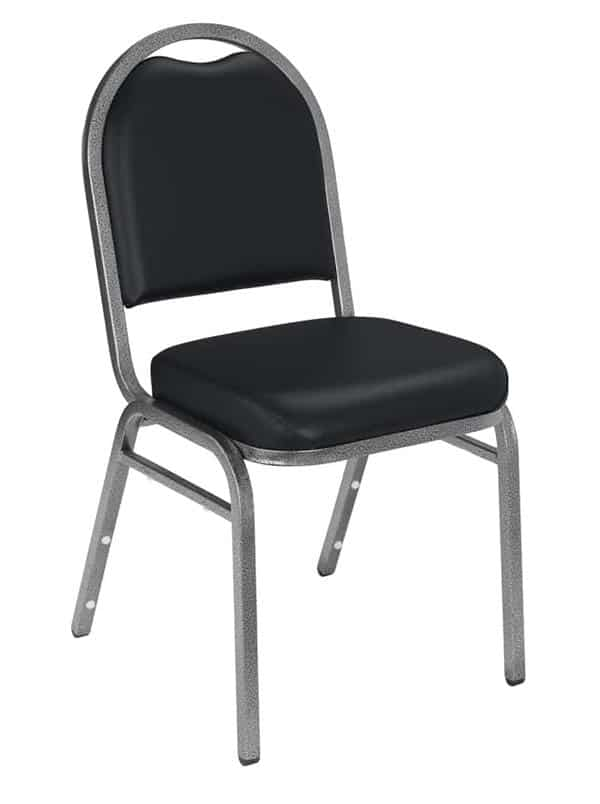 National Public Seating 9210-SV 9200 Series Dome Vinyl Upholstered Padded Stack Chair