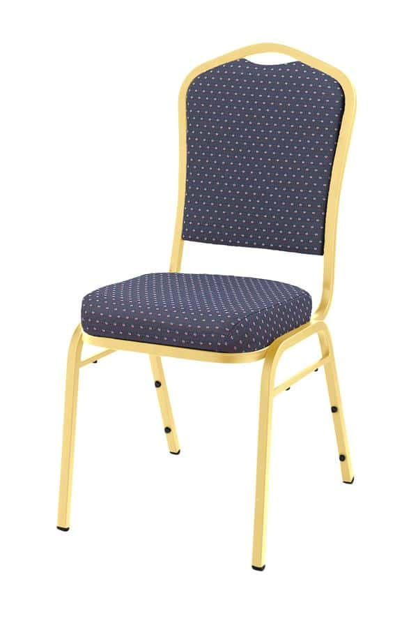 National Public Seating 9364-SV 9360 Series Silhouette Fabric Pattern Padded Upholstered Stack Chair