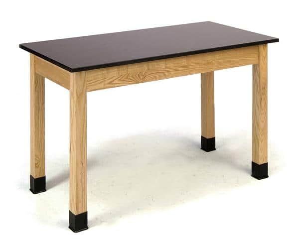 """National Public Seating PSLT3072-BC 30"""" H Phenolic Top w/ Book Compartments Science Lab table"""