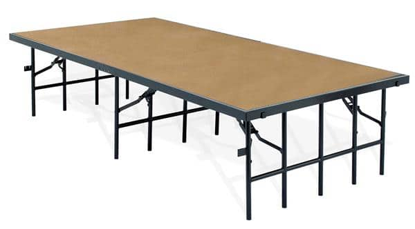 "National Public Seating S488HB 48"" Wide Stage w/ Hardboard Surface"