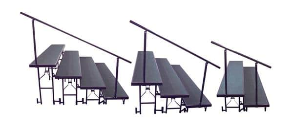National Public Seating SGR2L Side Guard Rail for Standing Risers
