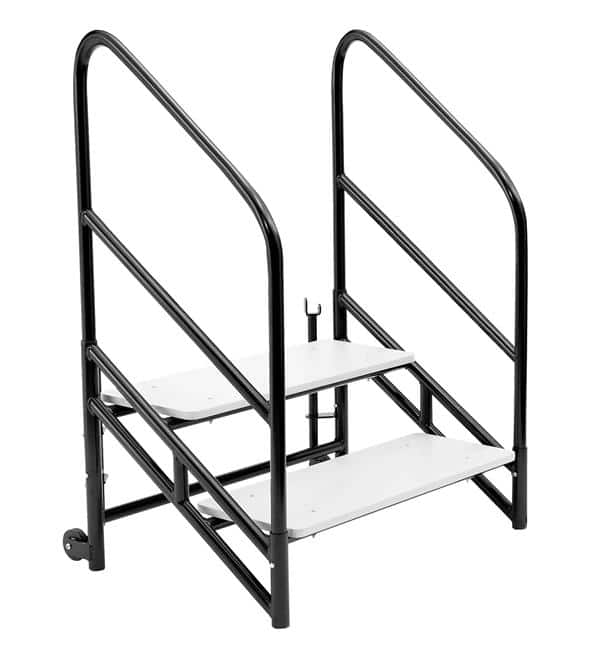 "National Public Seating STP24 Steps for 24""H Stages Accessories - Two 8""H step unit"