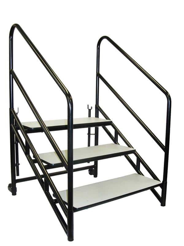 """National Public Seating STP32 Steps for 32""""H Stages Accessories - Three 8""""H step unit"""
