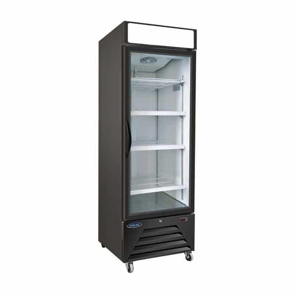 Nor-Lake NLFGM23HB 27'' 23.0 cu. ft. 1 Section Black Glass Door Merchandiser Freezer