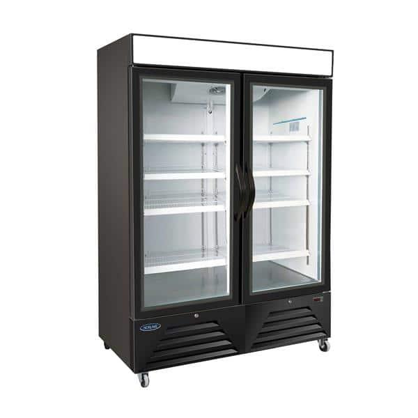 Nor-Lake NLFGM48HB 54'' 49.0 cu. ft. 2 Section Black Glass Door Merchandiser Freezer