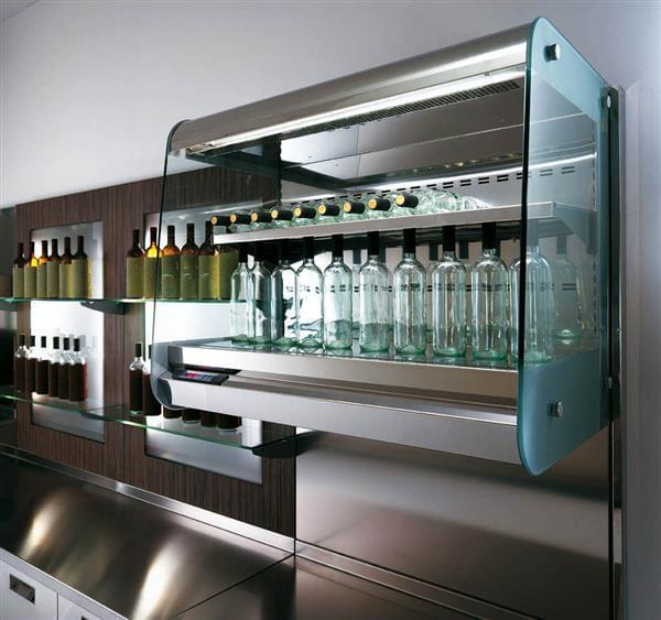 Oscartek REFRIGERATED OPEN WALL DISPLAY ROW1500 59.05'' Air Curtain Open Display Merchandiser with