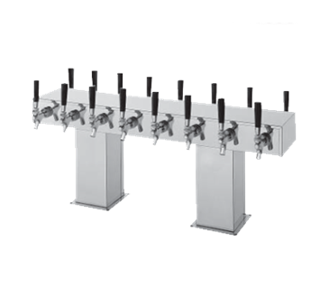 Perlick Corporation Corporation 4006-12BX12BTF4 Back-to-Back Bridge Tee Draft Beer Tower