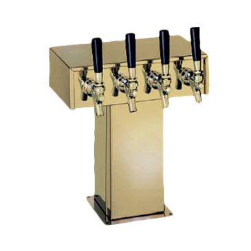 Perlick Corporation Corporation 4006-3BTF Tee Draft Beer Tower