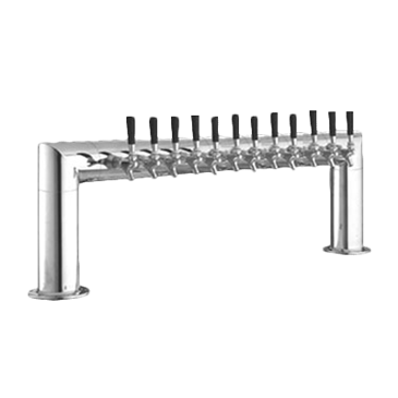 Perlick Corporation Corporation 4009-12B Pass-Thru Pipe Draft Beer Tower
