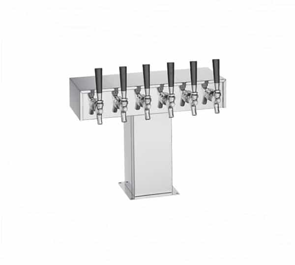 Perlick Corporation Corporation 4006S9B4 Wide Base Tee Draft Beer Tower
