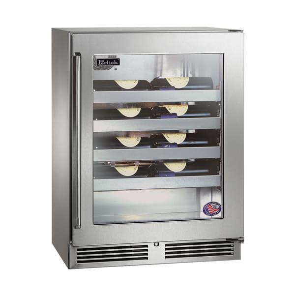 Perlick Corporation Corporation HD24WS4 Shallow-Depth Series Wine Reserve Refrigerator