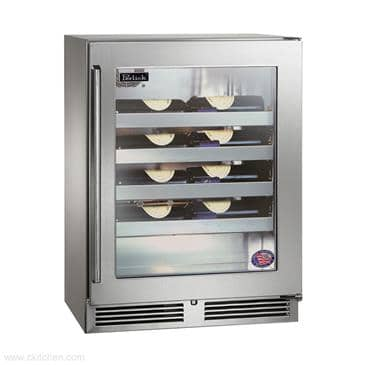 Perlick Corporation Corporation HD24WS Shallow-Depth Series Wine Reserve Refrigerator