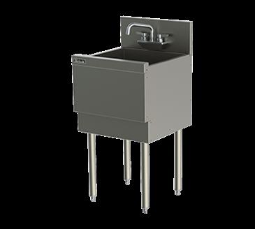 Perlick Corporation Corporation TSD181CA TSD Series Extra Capacity Underbar Sink Unit