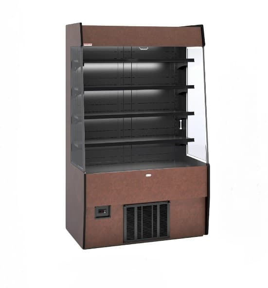 Piper Products /Servolift Eastern R-GNG-HPRO-6 72'' Black Vertical Air Curtain Open Display Merchandiser with 4 Shelves