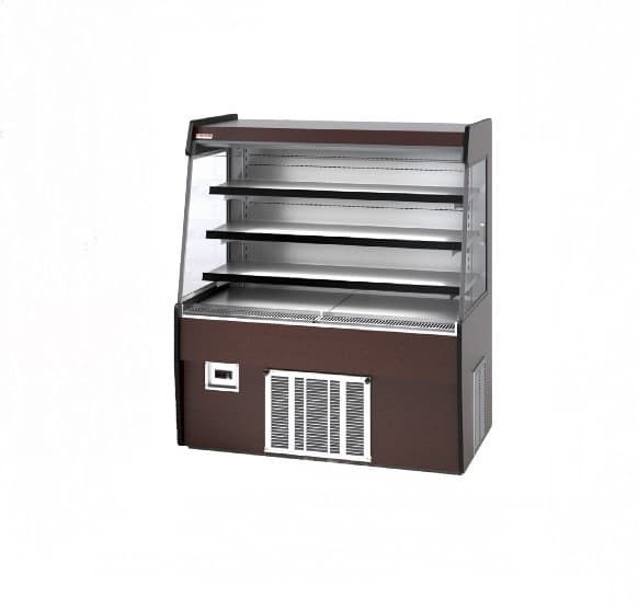Piper Products /Servolift Eastern R-GNG-LPRO-5 60'' Black Vertical Air Curtain Open Display Merchandiser with 4 Shelves
