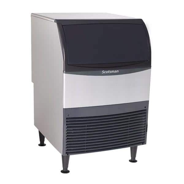 """Scotsman UC2724SW-1 24.00"""" Half-Dice Ice Maker With Bin, Cube-Style - 200-300 lbs/24 Hr Ice Production, Water-Cooled, 115 Volts"""
