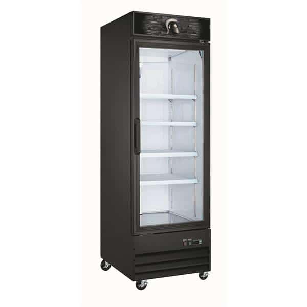 Spartan Refrigeration SGF-26 27'' 13.0 cu. ft. 1 Section Black Glass Door Merchandiser Freezer