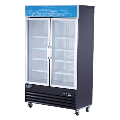 Spartan Refrigeration SGF-49 49.2'' 24.0 cu. ft. 2 Section Black Glass Door Merchandiser Freezer