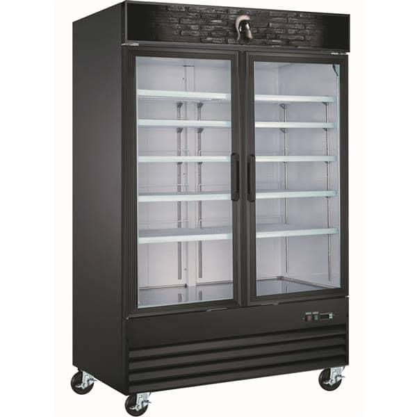 Spartan Refrigeration SGF-53 53.12'' 45.0 cu. ft. 2 Section Black Glass Door Merchandiser Freezer