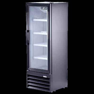 Spartan Refrigeration SGM-10RV 21.7'' Black 1 Section Swing Refrigerated Glass Door Merchandiser