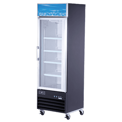 Spartan Refrigeration SGM-26RS 26'' Silver 1 Section Swing Refrigerated Glass Door Merchandiser
