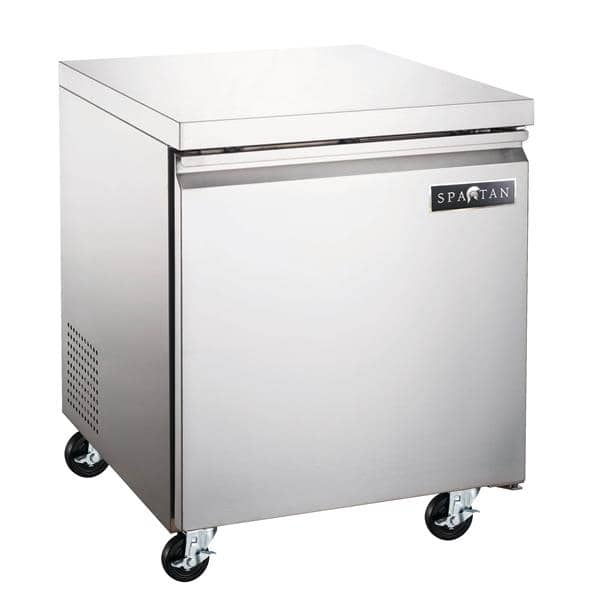 Spartan Refrigeration SUF-27 27'' 1 Section Undercounter Freezer with 1 Right Hinged Solid Door and Side / Rear Breathing Compressor